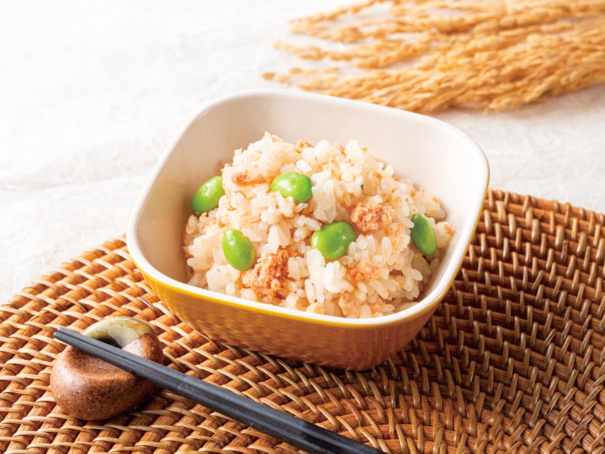 コンフォートイン新潟亀田 鮭と枝豆ごはん