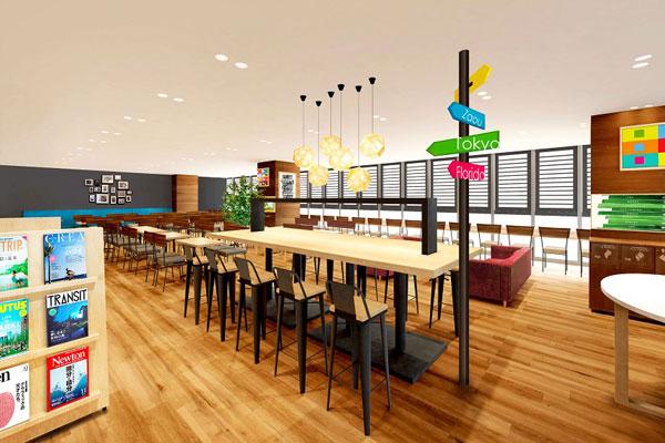 Comfort Library Cafe Plus(コンフォートホテル仙台西口) ※イメージ