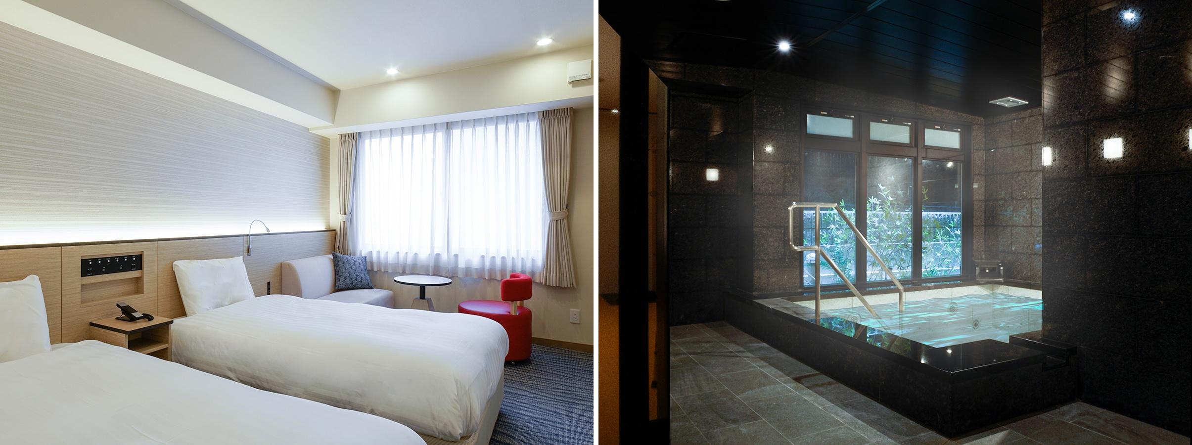 コンフォートイン京都四条烏丸 客室・大浴場