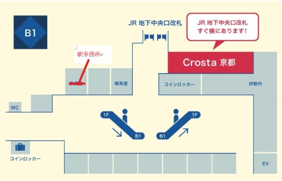 Crosta京都アクセス